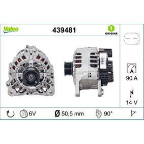 Lichtmaschine Rippenanzahl: 6 mit OEM-Nummer 03D 903 025 H