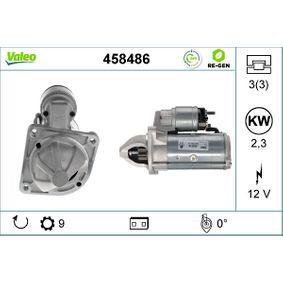 Motorino d'avviamento (458486) per per Motorino D'avviamento FIAT DUCATO Pianale piatto/Telaio (230) 2.8 TDI dal Anno 12.1998 122 CV di VALEO