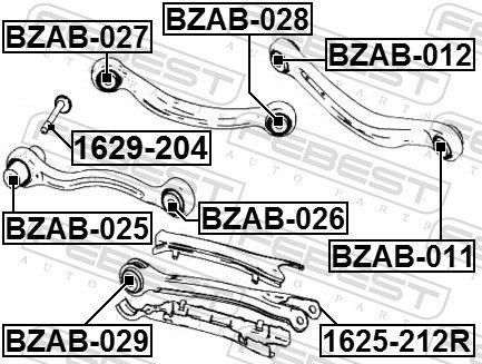 Querlenkerbuchse FEBEST BZAB-025 Bewertung