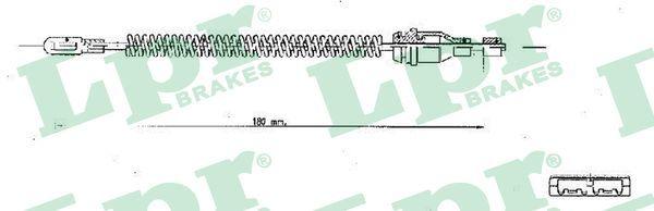 LPR  C1350B Seilzug, Feststellbremse Länge: 182mm, Länge: 182mm, Länge: 182mm, Länge: 182mm