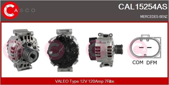 CASCO  CAL15254AS Lichtmaschine Rippenanzahl: 7