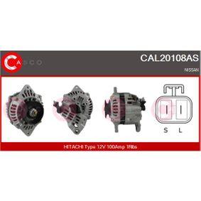 Alternatore N° di nervature: 1 con OEM Numero LR1100-724C