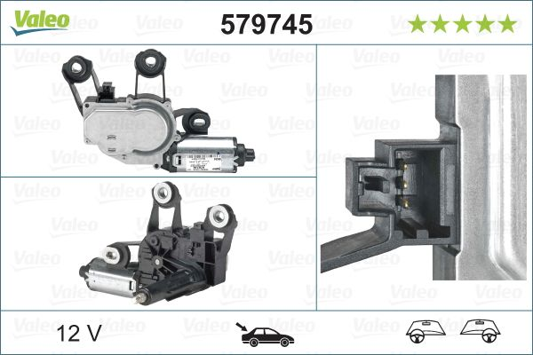 Window Wiper Motor VALEO 579745 3276425797451