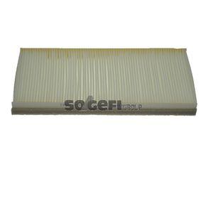 Filter, Innenraumluft Länge: 350mm, Breite: 170mm, Höhe: 30mm mit OEM-Nummer 1062 253