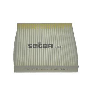 Filter, Innenraumluft Länge: 220mm, Breite: 225mm, Höhe: 31mm mit OEM-Nummer 6447-KR