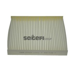 Filter, interior air Length: 250mm, Width: 216mm, Height: 32mm with OEM Number 6Q0820367