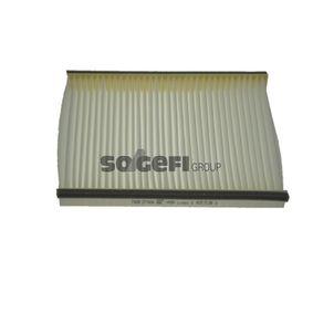 Filter, Innenraumluft Länge: 254mm, Breite: 197mm, Höhe: 30mm mit OEM-Nummer 6447-FF