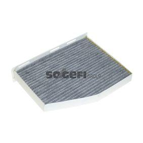 Filter, Innenraumluft Länge: 286mm, Breite: 212mm, Höhe: 33mm mit OEM-Nummer 1K2819653B