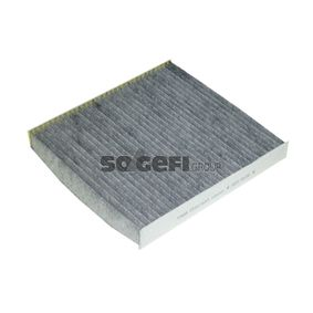 Filter, Innenraumluft Länge: 233mm, Breite: 253mm, Höhe: 29mm mit OEM-Nummer 5Q0819653