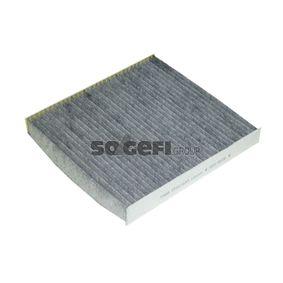 Filter, Innenraumluft Länge: 233mm, Breite: 253mm, Höhe: 29mm mit OEM-Nummer 5Q0819669