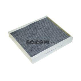 Filter, Innenraumluft Länge: 243mm, Breite: 214mm, Höhe: 33mm mit OEM-Nummer 18 08 527