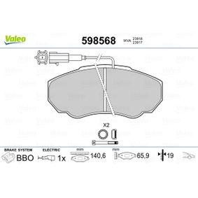 Комплект спирачно феродо, дискови спирачки Артикул № 598568 370,00BGN