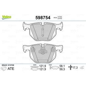 Brake Pad Set, disc brake 598754 3 Saloon (E90) 330d 3.0 MY 2009