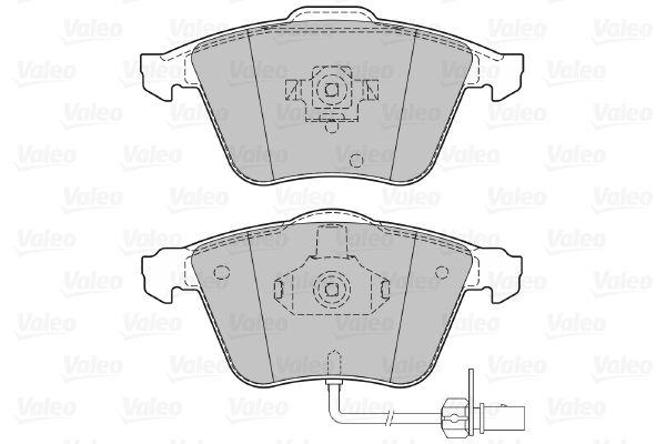 Комплект спирачно феродо, дискови спирачки VALEO 598822 оценка