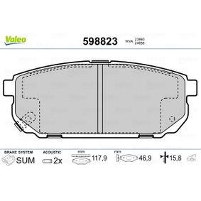 2013 KIA Sorento jc 2.5 CRDi Brake Pad Set, disc brake 598823