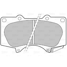 Bremsbelagsatz, Scheibenbremse Breite 1: 134,4mm, Höhe 1: 77,1mm, Dicke/Stärke 1: 17,2mm mit OEM-Nummer 04465 0K 360