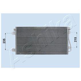 Kondensator, Klimaanlage Netzmaße: 690 x 380 x 16 mm, Kältemittel: R 134a mit OEM-Nummer 77 01 049 665