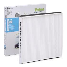 Filter, Innenraumluft Länge: 217mm, Breite: 207mm, Höhe: 19mm mit OEM-Nummer 6447.PF