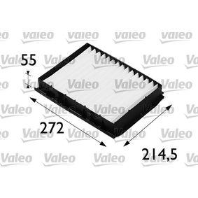 Filter, Innenraumluft Länge: 272mm, Breite: 215mm, Höhe: 55mm mit OEM-Nummer 1H0 819 644 A