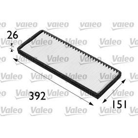 VALEO CLIMFILTER COMFORT 698164 Filter, Innenraumluft Länge: 392mm, Breite: 151mm, Höhe: 26mm