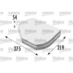 Filter, Innenraumluft Länge: 275mm, Breite: 219mm, Höhe: 54mm mit OEM-Nummer B6 680 99 01