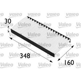 Filter, Innenraumluft Länge: 348mm, Breite: 160mm, Höhe: 30mm mit OEM-Nummer 1062253