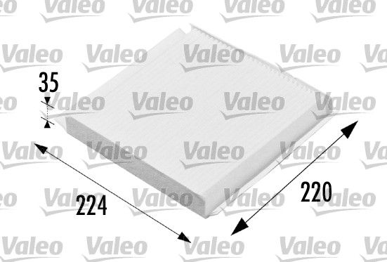 VALEO CLIMFILTER COMFORT 698657 Filter, Innenraumluft Länge: 224mm, Breite: 220mm, Höhe: 30mm