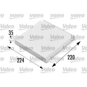 Filter, Innenraumluft Länge: 224mm, Breite: 220mm, Höhe: 30mm mit OEM-Nummer 6447-KR