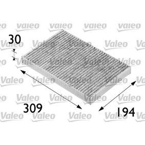 Filter, Innenraumluft Länge: 307mm, Breite: 194mm, Höhe: 30mm mit OEM-Nummer 4 B0 819 439