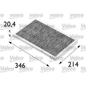 Filter, Innenraumluft Länge: 307mm, Breite: 194mm, Höhe: 30mm mit OEM-Nummer 4A0819439A