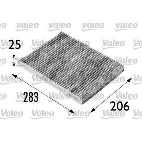 Filter, Innenraumluft Länge: 283mm, Breite: 206mm, Höhe: 25mm mit OEM-Nummer 8L0091800