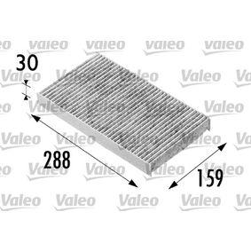 Filter, Innenraumluft Länge: 288mm, Breite: 159mm, Höhe: 30mm mit OEM-Nummer 500314688