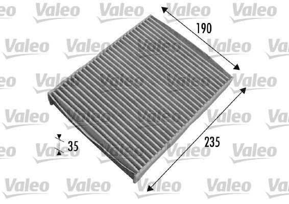 VALEO CLIMFILTER PROTECT 698693 Filter, Innenraumluft Länge: 235mm, Breite: 190mm, Höhe: 35mm