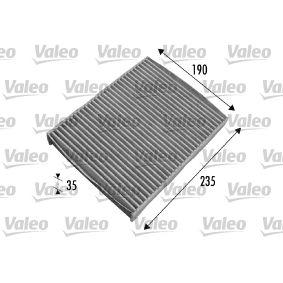 Filter, Innenraumluft Länge: 235mm, Breite: 190mm, Höhe: 35mm mit OEM-Nummer 256H19G244AA