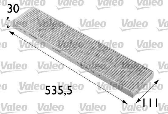 VALEO CLIMFILTER PROTECT 698696 Filter, Innenraumluft Länge: 535mm, Breite: 110mm, Höhe: 30mm
