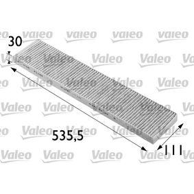 Filter, Innenraumluft Länge: 535mm, Breite: 110mm, Höhe: 30mm mit OEM-Nummer 1491 752