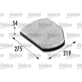 Filter, Innenraumluft Länge: 275mm, Breite: 219mm, Höhe: 54mm mit OEM-Nummer B66809901