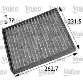 Filter, Innenraumluft Länge: 272mm, Breite: 234mm, Höhe: 31mm mit OEM-Nummer 17 18 042