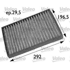 Filter, Innenraumluft Länge: 292mm, Breite: 197mm, Höhe: 30mm mit OEM-Nummer 91 21 627