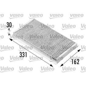 Filter, Innenraumluft Länge: 331mm, Breite: 162mm, Höhe: 30mm mit OEM-Nummer 51805219