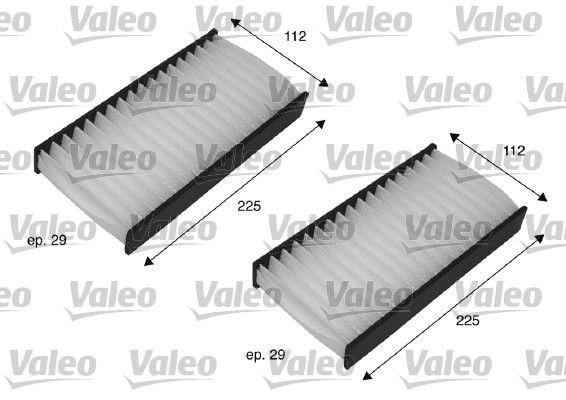 VALEO CLIMFILTER COMFORT 698735 Filter, interior air Width 1: 112mm, Width 2 [mm]: 112mm