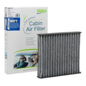 Filter, Innenraumluft Länge: 250mm, Breite: 216mm, Höhe: 30mm mit OEM-Nummer 6Q0819653