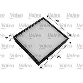 Filter, Innenraumluft Länge: 235mm, Breite: 224mm, Höhe: 40mm mit OEM-Nummer 163.835.02.47