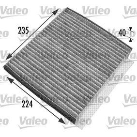 Filter, Innenraumluft Länge: 235mm, Breite: 224mm, Höhe: 40mm mit OEM-Nummer 163 835 0247