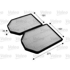 Filter, Innenraumluft Länge: 280mm, Breite: 203mm, Höhe: 28mm mit OEM-Nummer 4D0898438 A