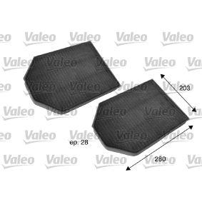 Filter, Innenraumluft Länge: 280mm, Breite: 203mm, Höhe: 28mm mit OEM-Nummer 4D0 898 438A