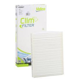 Filter, Innenraumluft Länge: 215mm, Breite: 166mm, Höhe: 25mm mit OEM-Nummer 7736 2394