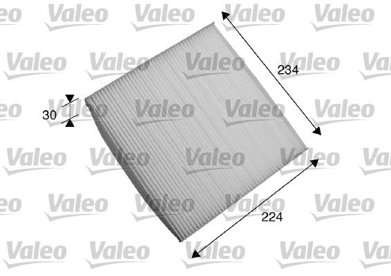 VALEO CLIMFILTER COMFORT 698868 Filter, Innenraumluft Länge: 224mm, Breite: 234mm, Höhe: 30mm