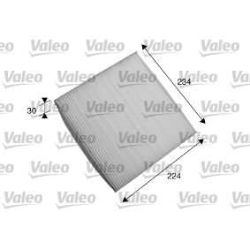 Filter, interior air Length: 224mm, Width: 234mm, Height: 30mm with OEM Number 80292SWAA01