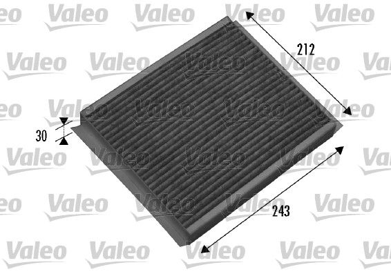 VALEO CLIMFILTER PROTECT 698877 Filter, Innenraumluft Länge: 242mm, Breite: 214mm, Höhe: 34mm